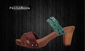 zoccolo rock 7cm marrone celeste