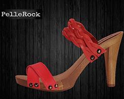 zoccolo legno cuoio rosso