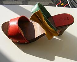 zoccolo legno tacco 7